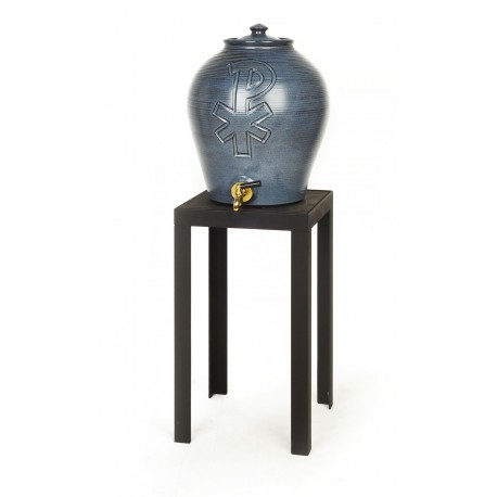 Tonneau en céramique pour l'eau bénite